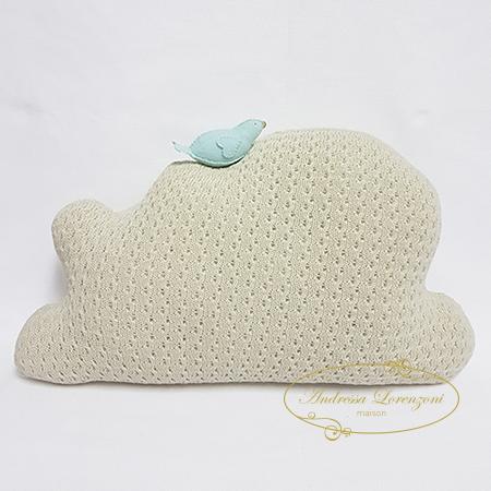Almofada Nuvem Tricot Branca 50cm | Grão de Gente | 450x450
